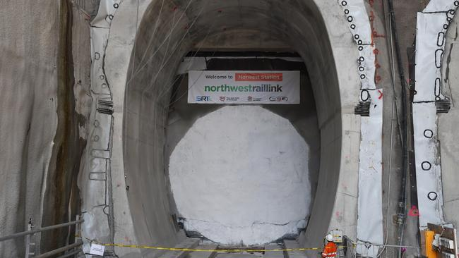 North west rail link tunneling machine makes grand
