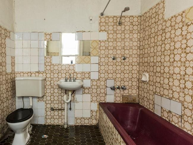 Lots of tiles to rip out and start again at 37 Chelsea Street, Redfern which is dilapidated and priced at $1.7m. Picture: realestate.com.au.