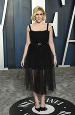 Greta Gerwig arrives at the Vanity Fair Oscar Party on Sunday, Feb. 9, 2020, in Beverly Hills, Calif. (Photo by Evan Agostini/Invision/AP)