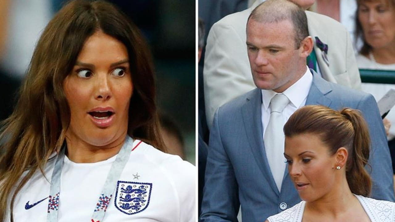 Rebekah Vardy (left) and Wayne and Coleen Rooney.