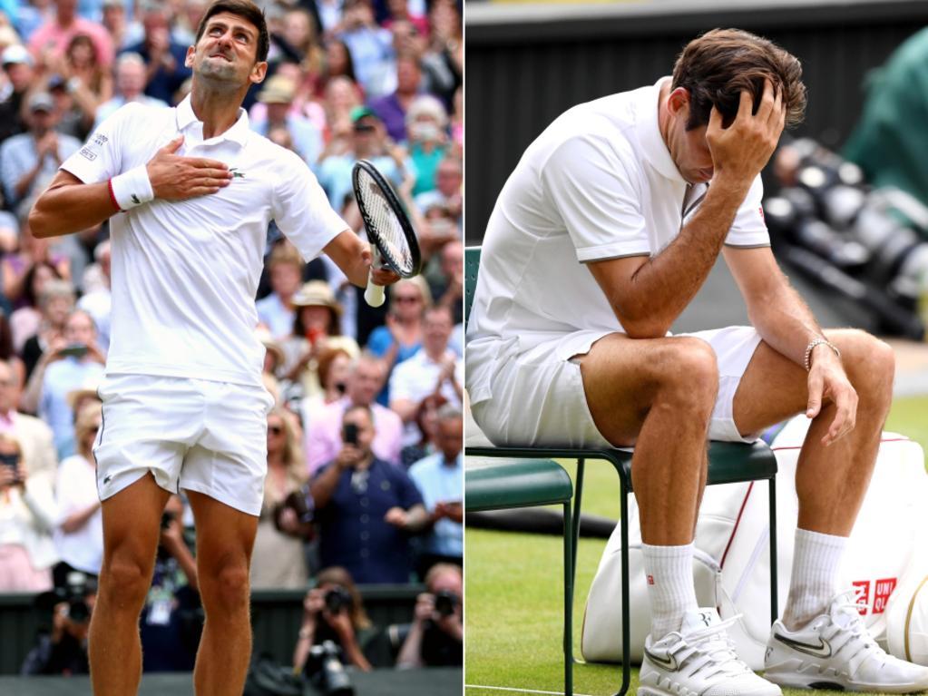 Novak Djokovic outlasts Roger Federer.