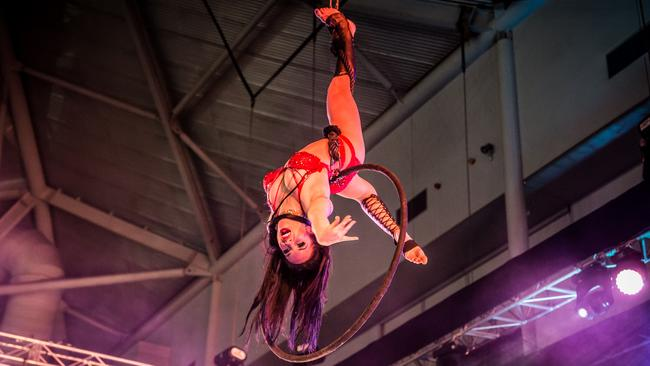 Sins is coming to the Sexpo event in Melbourne. He will probably not hang from a hoop though. Picture: Matt Bartolo.
