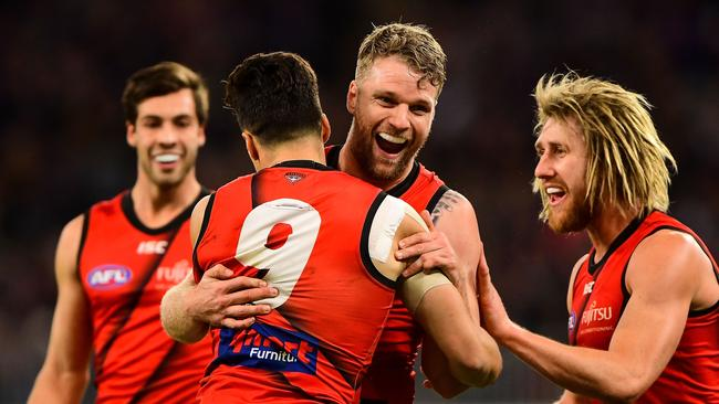 Jake Stringer and Dyson Heppell are both out of Essendon's team.