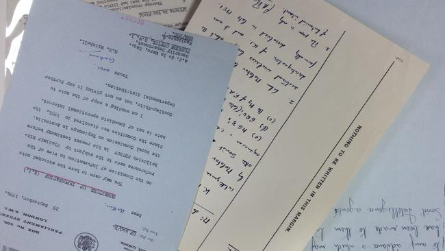 Top secret ... some of the declassified intelligence service documentation. Picture: Charles Miranda