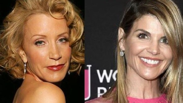 Actress Felicity Huffman (left) has also been implicated in the scam.