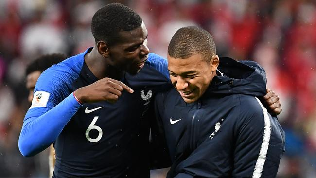 France s midfielder Paul Pogba (L) and France s forward Kylian Mbappe.    AFP PHOTO   FRANCK FIFESource AFP 5739f51b1b848