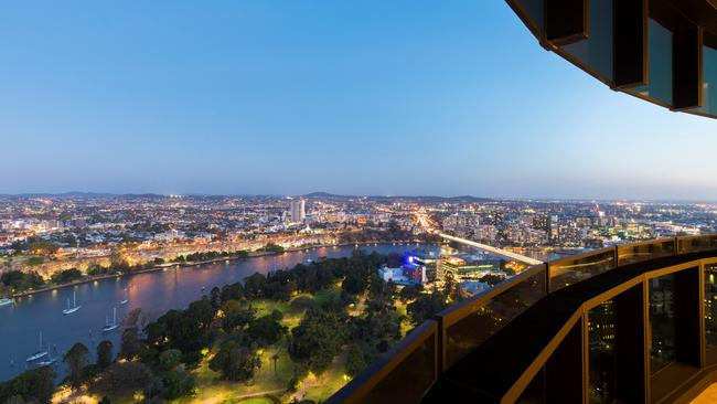 The view from apartment 3501/140 Alice St, Brisbane City. Pic supplied.