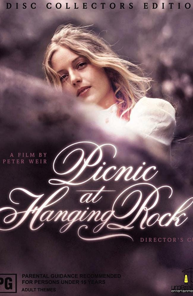 DVD cover of the 1975 film Picnic at Hanging Rock with Anne Louise Lambert as Miranda.
