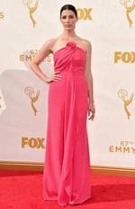 Jessica Pare attends the 67th Annual Primetime Emmy Awards in Los Angeles. Picture: Getty