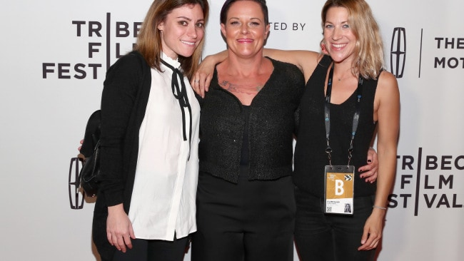 Carlye Rubin, Charity Lee and Katie Green attend the 'The Family I Used To Have' premiere. Photo: Astrid Stawiarz/Getty Images for Tribeca Film Festival