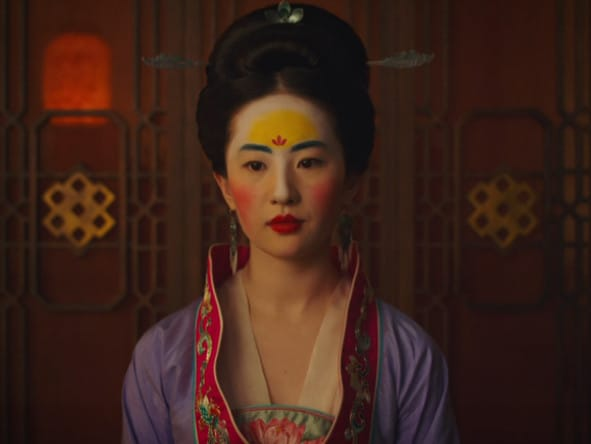 Liu Yifei in a scene from the first trailer for Disneys' live-action remake of the movie Mulan.