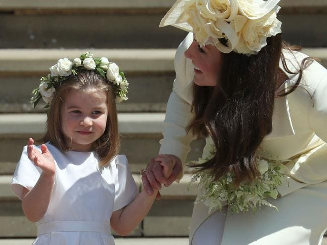 Princess Charlotte and the Duchess of Cambridge. Picture: AFP PHOTO / POOL / Jane Barlow