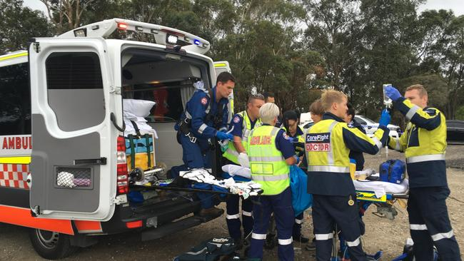 The girl was hospitalised with critical head injuries. Picture: CareFlight