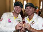 FILE - Australia Cricket Captain Steve Smith and vice-captain David Warner Step Down For Rest of the Third Test Against South Africa After Admitting Ball Tampering