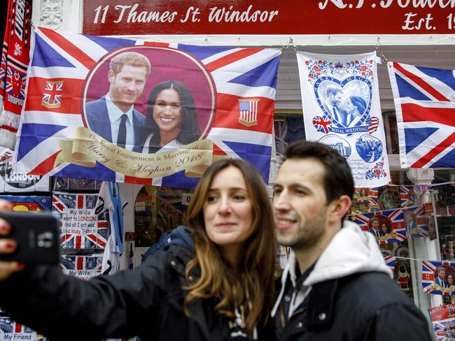 The city has already gone crazy for the royal wedding. Picture: AFP/Tolga Akmen