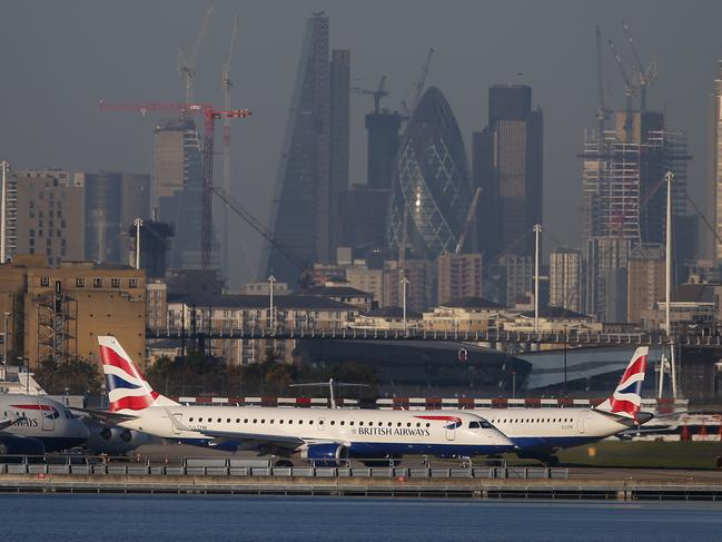 The group plans to disrupt London City Airport in the city's east. Picture: AFP/Daniel Leal-Olivas