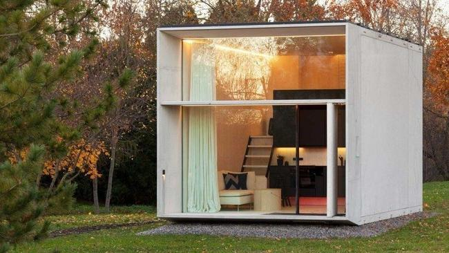 The tiny house is designed for easy assembling and dissembling. Picture: Kodasema