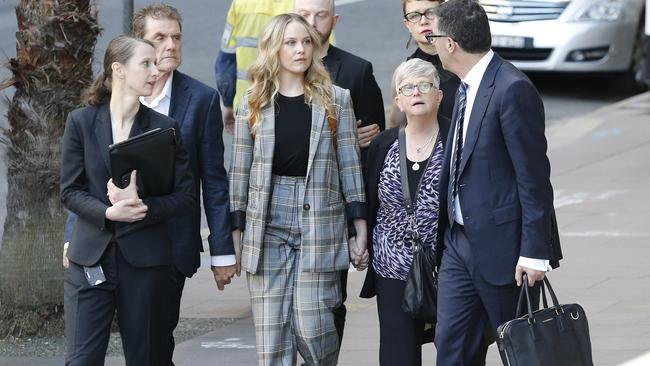 Eryn Jean Norvill arrives at court today. Picture: Richard Dobson