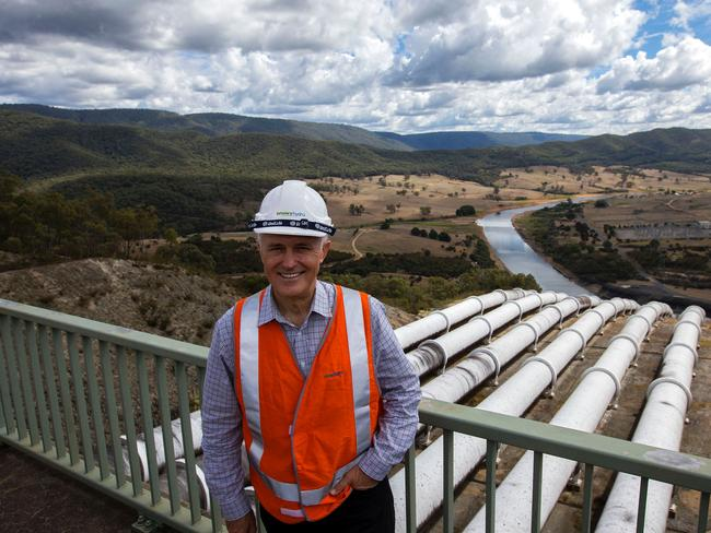 Malcolm Turnbull at Snowy Hydro 2.0. Picture: Official Photographer to Prime Minister Malcolm Turnbull