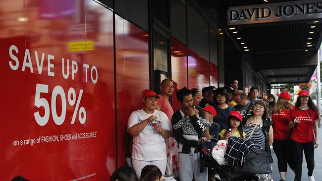 The once mighty department store has more than halved in value since 2014. Picture: Hanna Lassen/Getty Images