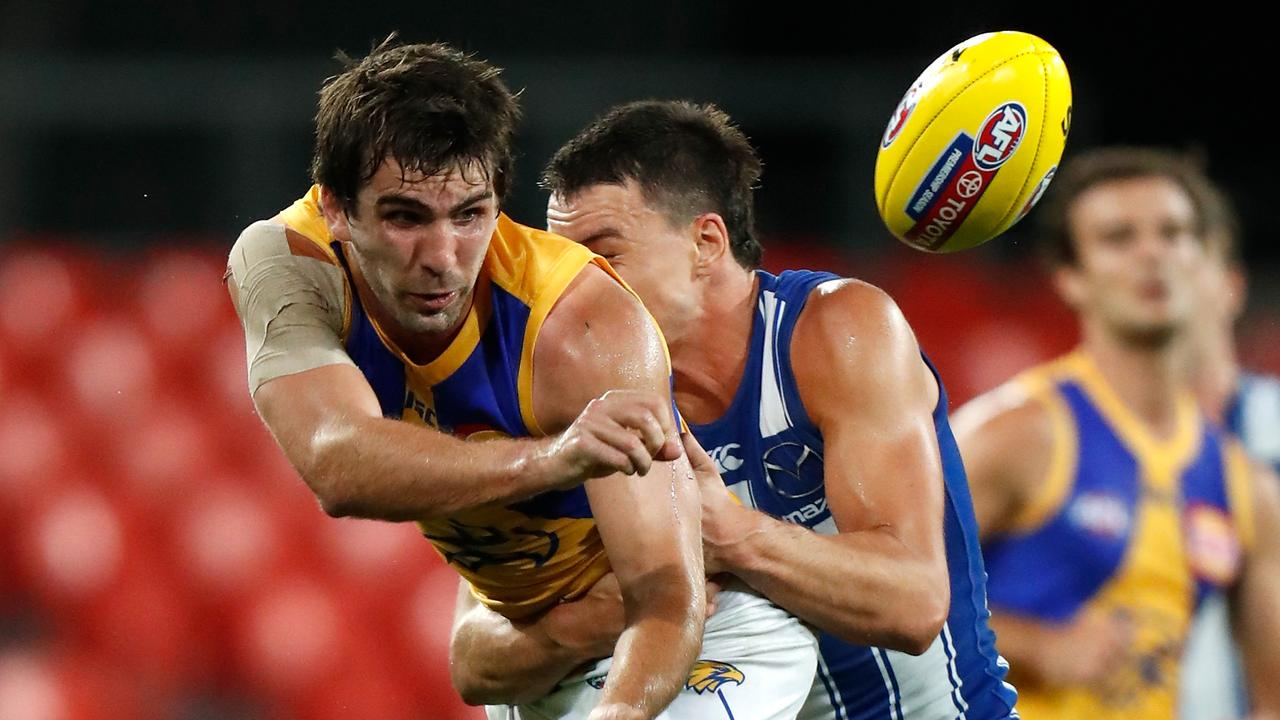 Andrew Gaff of the Eagles was overlooked. Picture: Michael Willson