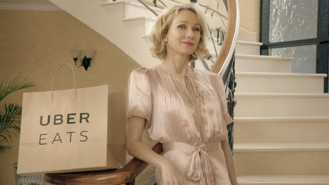 Naomi Watts in the latest UberEATS ad.