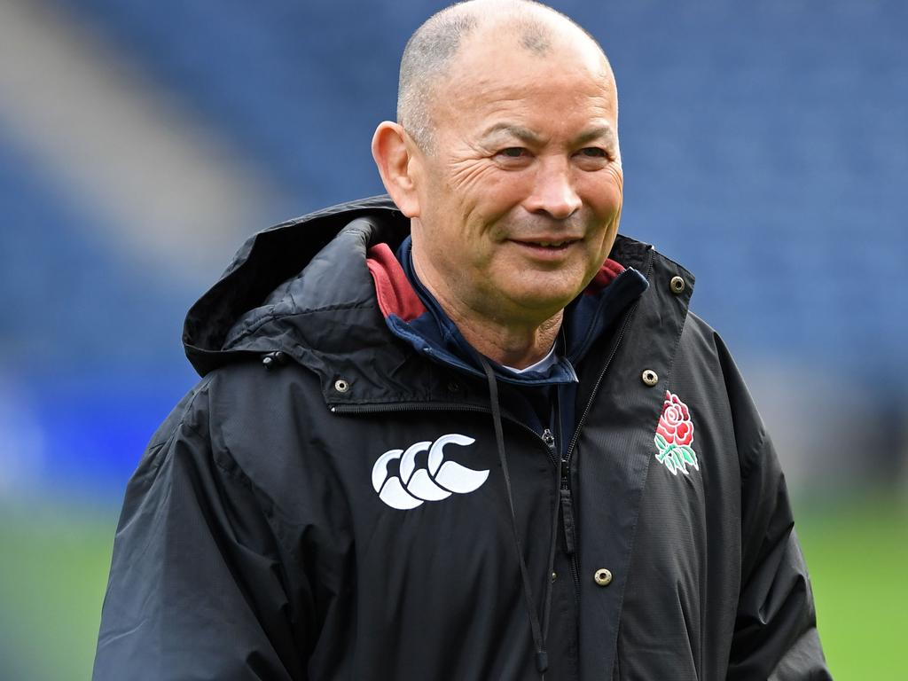 (FILES) In this file photo taken on February 07, 2020 England's coach Eddie Jones takes the captain's run training session at Murrayfield Stadium in Edinburgh. - Eddie Jones has signed a two-year extension to his contract as England coach that will see him remain in charge of the side until the end of the 2023 World Cup in France, the Rugby Football Union announced on April 2, 2020. (Photo by ANDY BUCHANAN / AFP)