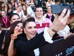 X Factor runner up Louise Adams takes a selfie with fans on the red carpet ahead of the 29th Annual ARIA Awards 2015 at The Star on November 26, 2015 in Sydney, Australia. Picture: Ryan Pierse / Getty Images