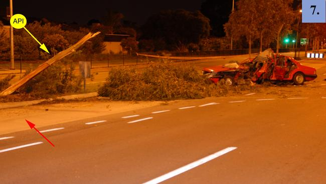 Phillip Wright lost control and hit a tree on West Lakes Boulevard on June 11, 2009. Picture: SA Police