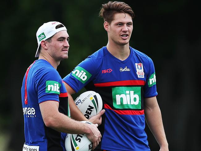 Connor Watson (L) and Kalyn Ponga.