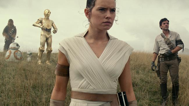 A scene from the movie Star Wars: The Rise of Skywalker.