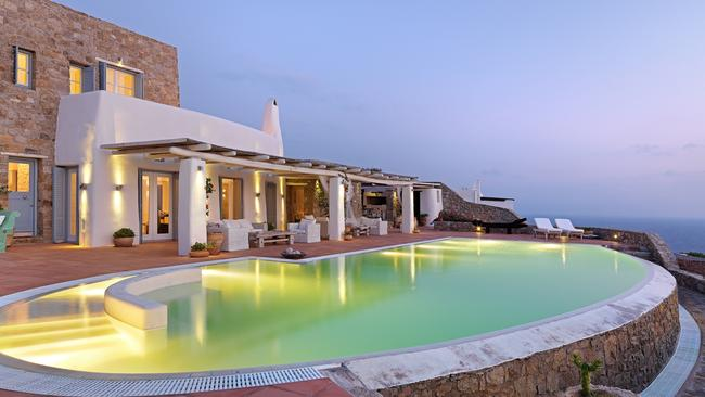 If you get tired of visiting the beach there's always the pool to lounge around. Picture: Savills Greece.