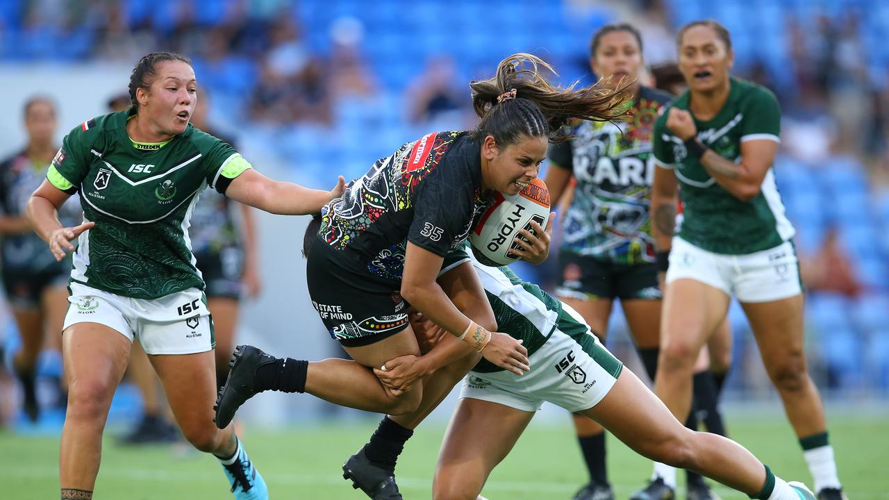 Nakia Davis-Welsh of the indigenous All-Stars was a star in the All Stars clash.
