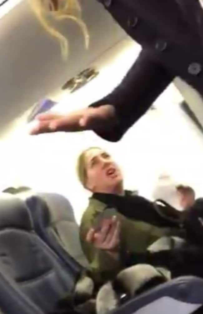 Tabitha the stewardess wasn't having a bar of this woman's rubbish. Picture: Facebook
