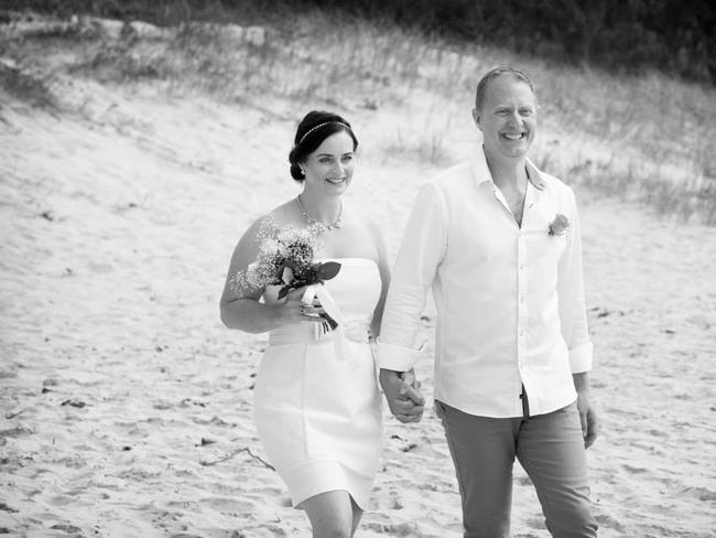 Claire and her new husband on her wedding day. Picture: Claire Ashman