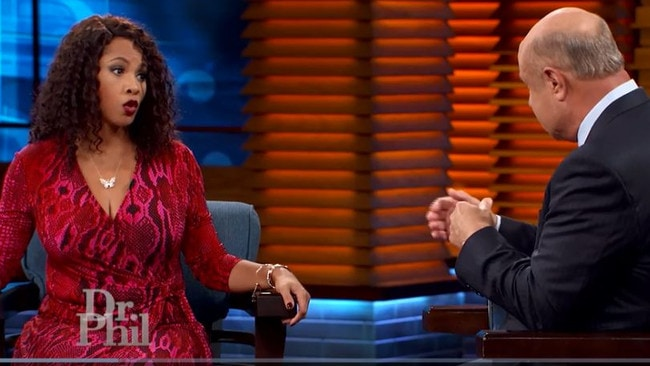 Treasure's mother, pictured on air with Dr Phil, claimed her daughter 'started identifying as a white person as a young child'. Picture: Supplied