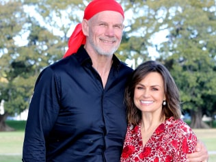 peter Fitzsimons and Lisa Wilkinson celebrating 10 years on Today show. Pic Stephen Cooper