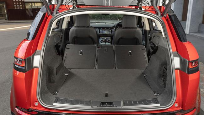 The rear seats can be folded to create a large cargo space.