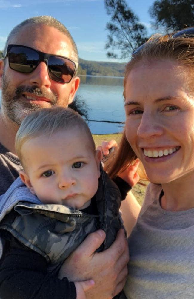 Edwina and Ant Symonds with their son Sebastian.