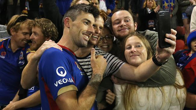 Good times in Newcastle after the Jets' impressive win.