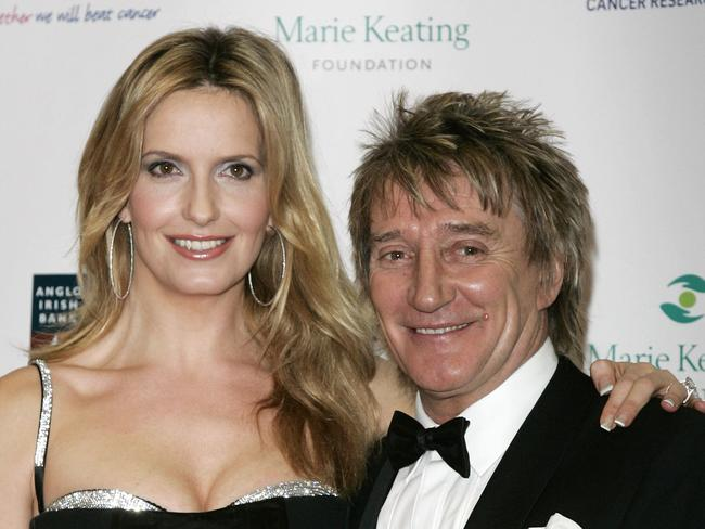 British singer Rod Stewart, right, and his wife Penny Lancaster in 2007. Picture: AP