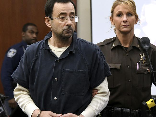 Complaints about Larry Nassar's behaviour had been investigated and 'cleared' by the University he worked for. Picture: Dale G. Young/Detroit News via AP