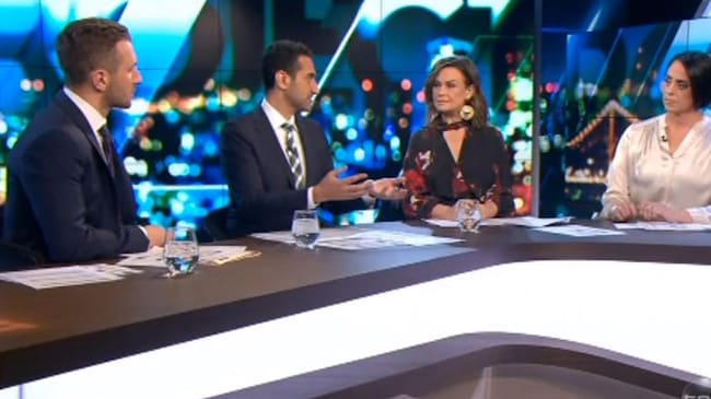 Waleed Aly and Lisa Wilkinson clashed while discussing proposed laws requiring priests to report confessions of abuse. Picture: Channel 10