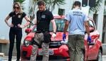 "CORRECTION - Police look at equipment suspected of being used to make explosives at the scene of a bank robbery in Criciuma, Brazil, on December 1, 2020. - A group of 30 heavily armed criminals entered a bank in Criciuma, Santa Catarina State, southern Brazil, taking hostages, blocking roads and exchanging gun fire with police for about two hours. (Photo by Guilherme Cordeiro / AFP) / ""The erroneous byline appearing in the metadata of this photo has been modified in AFP systems in the following manner: [Guilherme Cordeiro] instead of [Guilherme Haun]. Please immediately remove the erroneous mention[s] from all your online services and delete it (them) from your servers. If you have been authorized by AFP to distribute it (them) to third parties, please ensure that the same actions are carried out by them. Failure to promptly comply with these instructions will entail liability on your part for any continued or post notification usage. Therefore we thank you very much for all your attention and prompt action. We are sorry for the inconvenience this notification may cause and remain at your disposal for any further information you may require."""