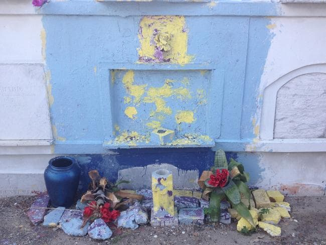A shrine at St Louis Cemetery.