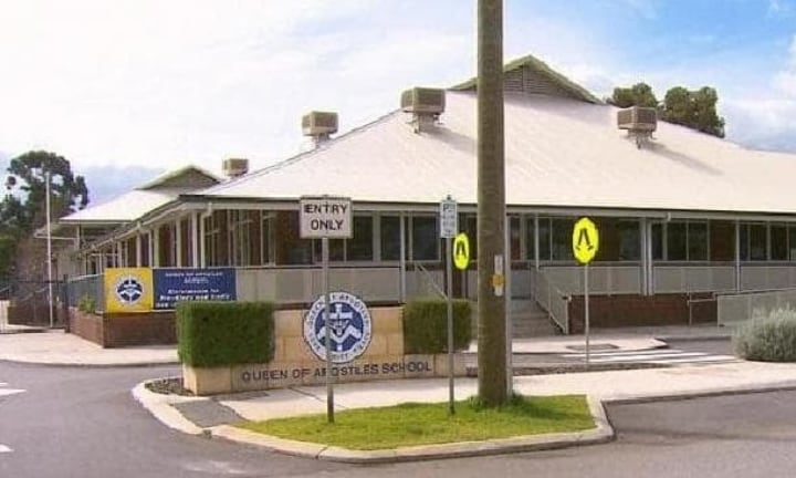 Police have been talking to the school about the incident. Picture: 9News Source:Supplied
