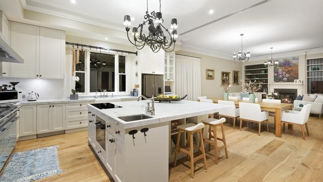 The kitchen, with $50,000 oven, is a centrepiece of the home.