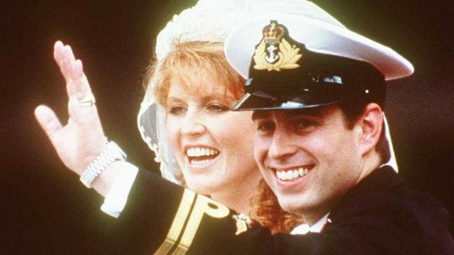 Fergie and Prince Andrew's 1986 royal wedding.
