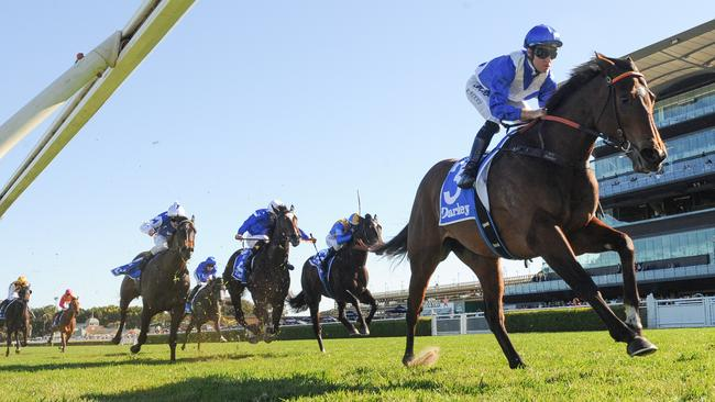 Jockey Tommy Berry was full of praise for Libertini after her runaway victory. Picture: AAP