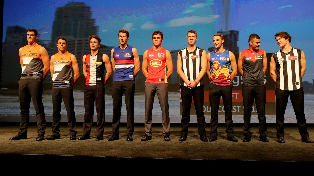 The top ten from the 2012 National Draft on the Gold Coast.
